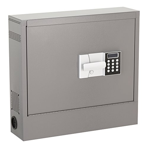 Laptop Safe (Norwood Commercial Furniture NOR-HNA1000-SO Wall Mounted Laptop Safe with LCD Lock, Gray)