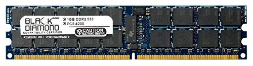 1GB RAM Memory for Sun SPARC Enterprise T1000 Server 240pin PC2-4200 DDR2 ECC Registered RDIMM 533MHz Black Diamond Memory Module ()
