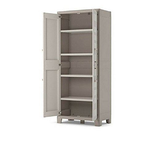 Waterproof Storage Cupboard Living Room Kitchen Bedroom Balcony Bathroom Wall Furniture Doors Adjustable Shelves Cabinet Home Indoor Outdoor Store Organizer & Ebook by Easy 2 Find.