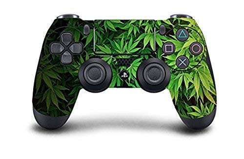 Dreamcontroller - PS4 Dual Shock Wireless Controller with Custom Skin Designs   Ergonomic Anti Slip Grips for Serious Gamers & Esports Competitors   Professionally Tested & Certified in The USA (Controller Weed Skin Ps4)