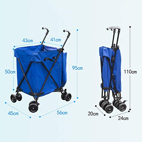 Hotel cart, Three-Second Folding Towel Storage Box Hotel Room Service car Hair Trolley (Color : A) by HT trolley (Image #1)