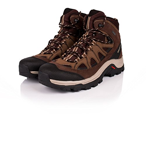 Salomon Mens Authentic LTR GTX Backpacking Boot Black Coffee/Choc Brown/Vint Kaki 18Ihqi5