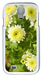 samsung galaxy s4 case,custom samsung galaxy s4 i9500 case,TPU Material,Drop Protection,Shock Absorbent,Customize your own cell phone case pattern,white case,Pure and fresh and Daisy