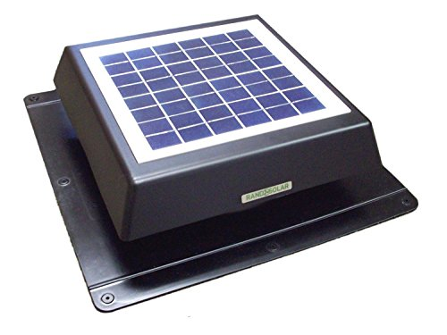 - Rand 10 W Solar Battery Powered Attic Fan- Roof Top-Runs at Night!!- 10 Watt
