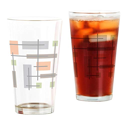 CafePress Cubicle Atomic Era Art Pint Glass, 16 oz. Drinking Glass