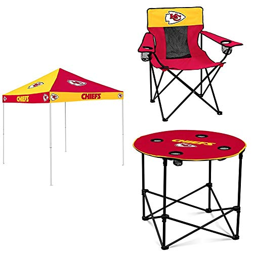 Logo Brands Kansas City Chiefs Tent, Table and Chair Package