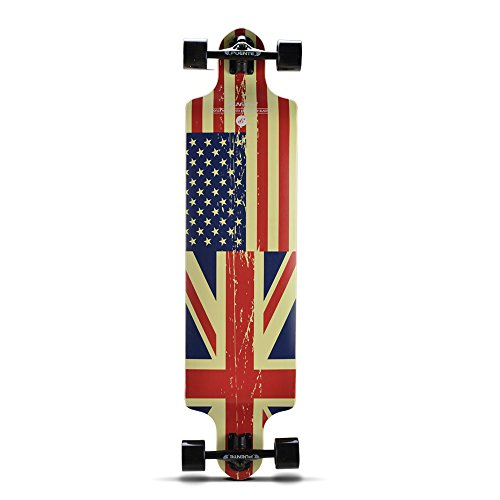 PUENTE Skateboard Complete Pro Drop Through Longboard 41 Inch