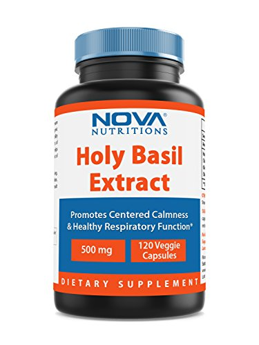 (Nova Nutritions Holy Basil Extract 500 mg 120 Veggie Capsules)