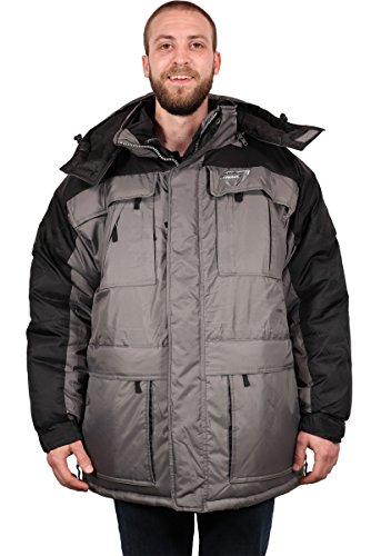- Freeze Defense Men's 3-in-1 Winter Jacket Coat w/Vest (3XL, Gray)