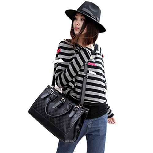 Eshion Womens Grid Bag Checker Board Synthetic Leather Handbag Shoulder - Checkerboard Sunglasses