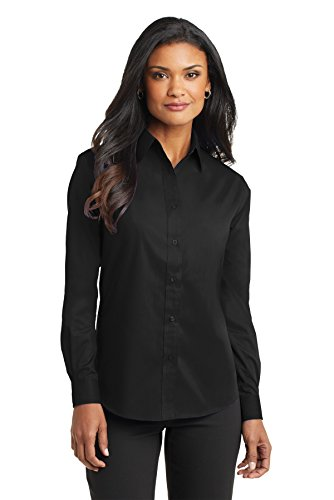 Port Authority Women's Long Sleeve Value Poplin Shirt XXL Black
