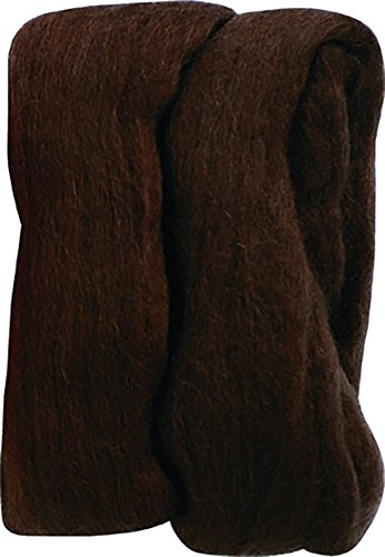 Clover Electronics Natural Wool Roving, Brown