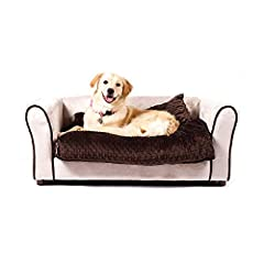 For a touch of elegance and loads of comfort, westerhill sofa dog bed features a combination of two types of min KY fabrics. It is upholstered with min KY fabric and contrasting piping around the arms of the sofa. A separate reclaimed memory ...