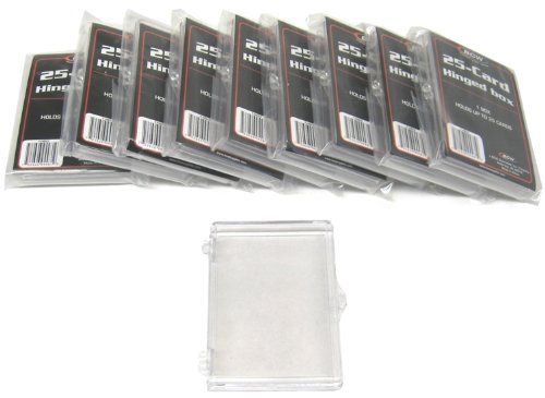 10 BCW Brand 25 Trading Card Capacity Hinged Box / Holder / Case - BCW-HB25- Protect Your Valuable Sports and Gaming Cards!