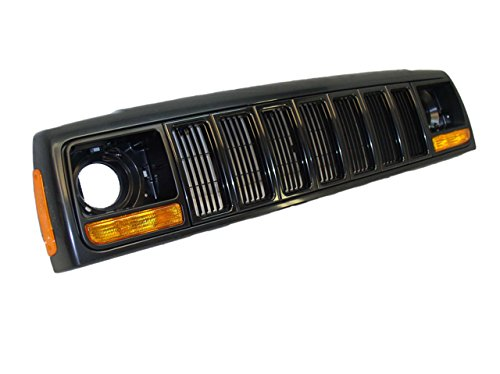 97-01 JEEP CHEROKEE GRILLE BLACK HEADER PANEL PAKR SIDE MARKER LAMP 8PCS