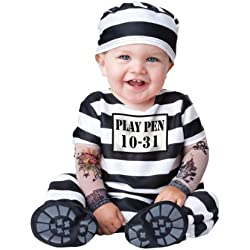 InCharacter Costumes Baby's Time Out Convict Costume, Black/White, Small