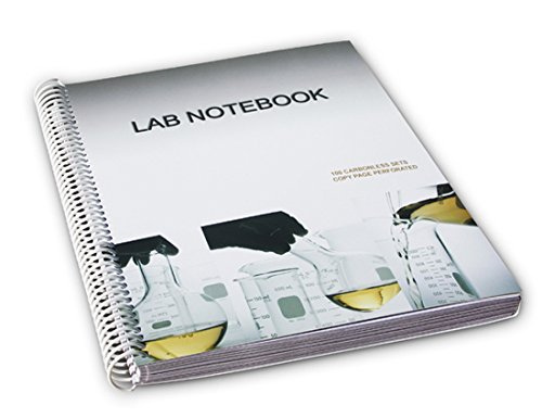 BARBAKAM Lab Notebook 50 Carbonless Pages Spiral Bound (C...