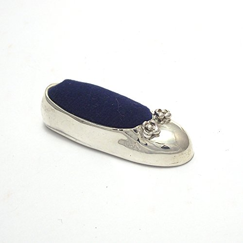 Collectible Mini Pin Cushion Antique Style Sewing tool Ballet Shoes Sterling Silver 925 : Blue