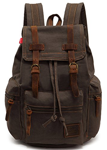 ecocity-vintage-canvas-backpack-rucksack-casual-daypacks-army-green
