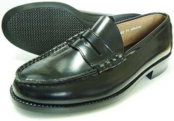 BRAVAS(MoonStar)本革 メンズ ローファー 黒 3E(学生靴通学靴紳士靴)[大きいサイズ 27.5cm、28cm、28.5cm、29cm、30cm、小さいサイズ 21.5cm、22cm、22.5cm、23cm、23.5cm、24cm あり] B0764LSCVM 26.5 cm