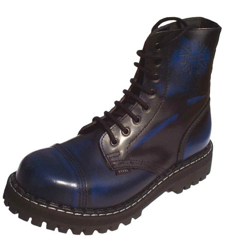 Steels 8 Loch Boots Blau Rub Off Blau