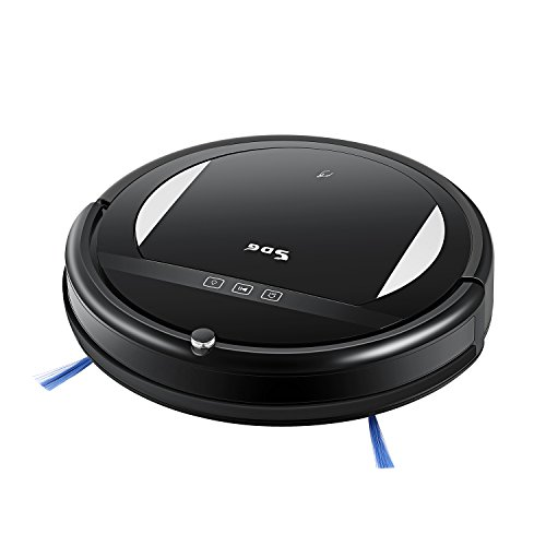 Robotic Vacuum Cleaner with High Suction, 2000 mAh Li-ion Battery Cleans with Mop for Pet Hair, Carpet, Hardwood Floors