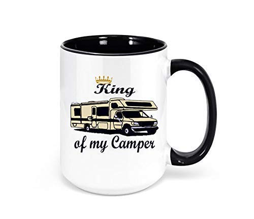 King of my Camper Class C Motorhome Mug, Camping Coffee Mug, Motorhome Decor