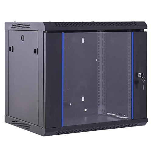 Safstar Wall Mount IT Network Server Cabinet Enclosure Data Devices Rack (6U, Tempered Glass Type) by S AFSTAR