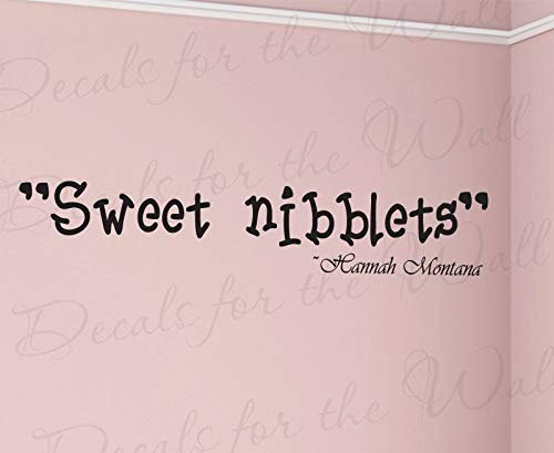 Hannah Montana Wall Decorations - Diuangfoong Sweet Nibblets Hannah Montana Girl Girl Room Kid Baby Nursery Vinyl Large Wall Decal Quote Stickerlettering Art Decor Decoration