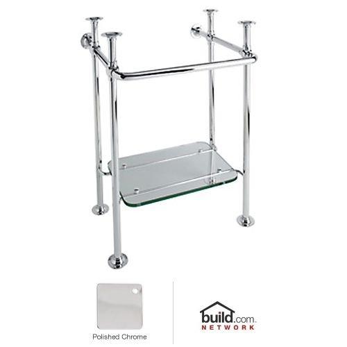 Rohl RW2231APC Wash Stand with Glass Shelf, Polished - Rohl Shelf Bathroom