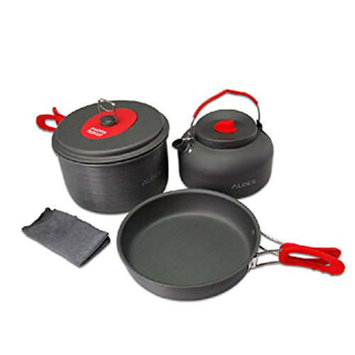 Camping Picnic Set 2-3 People Frying Pan, Soup Pot, Kettle by LANGMING