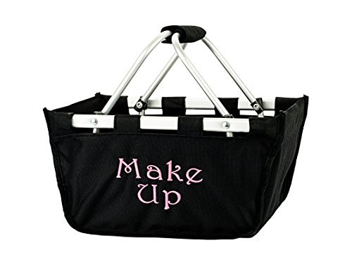 Solid Reusable Shopping Mini Market Tote Basket Craft Sewing Organizer, Black