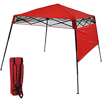 sunnydaze compact quick up slant leg instant pop up backpack canopy 6 x - Compact Canopy 2016