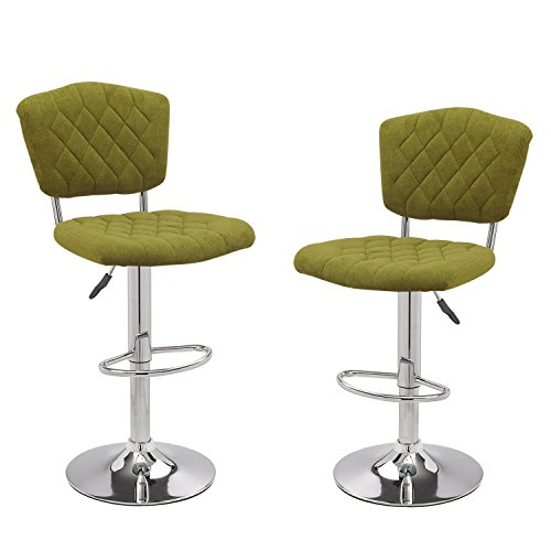 (NEW Home's Art Modern Shining Euro Style Adjustable Height Swivel Bar Courter Stool Barstool (set of two) -)