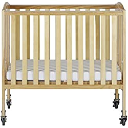 Dream On Me 2-in-1 Folding Birch Portable Crib, Natural