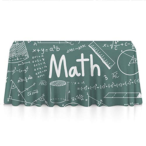 GOAEACH Stain Resistant Dust-Proof Rectangular/Square Table Cloths - Math Mathematical Formula Equation Table Decor, Square Or Round Tables Tablecloths for Wedding Catering Events, BBQ