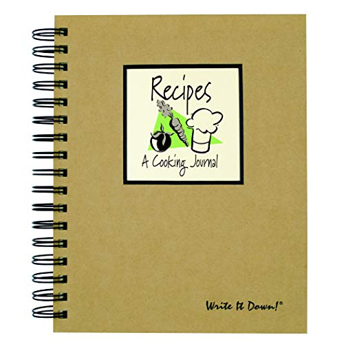 Recipes, A Cooking Journal - Kraft Hard Cover