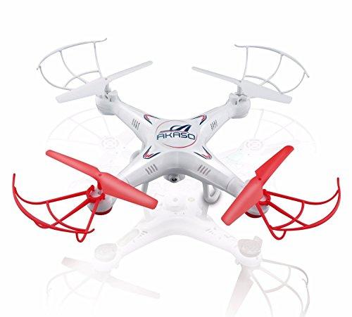 AKASO - Drone Cuadróptero 6-ejes con cámara de HD