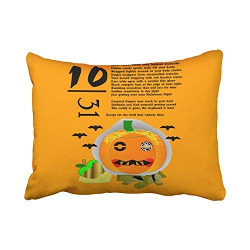 (Mewisx Custom Halloween Hangover Throw Pillow Covers Cases Cushion Cover Case Sofa 20x30 Inches Two)