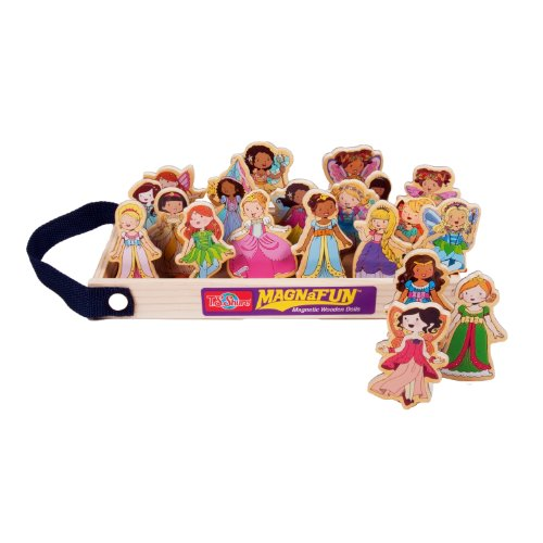 [T.S. Shure Fairies & Princesses Dolls Wooden Magnets 20 Piece MagnaFun Set] (Year Old Girl Figurines)