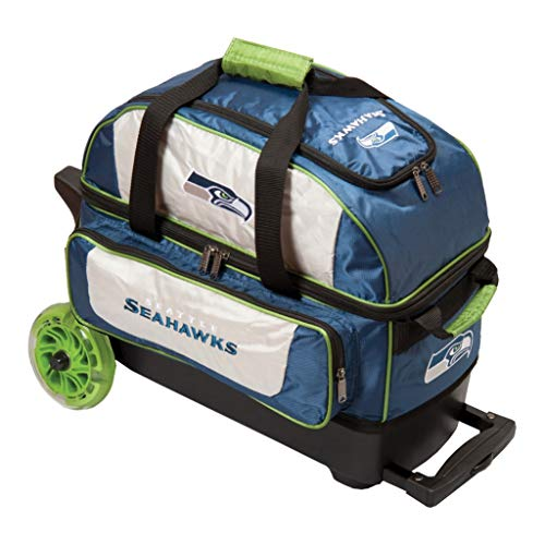 KR Strikeforce Bowling Bags Seattle Seahawks 2 Ball Roller Bowling Bag, Multi