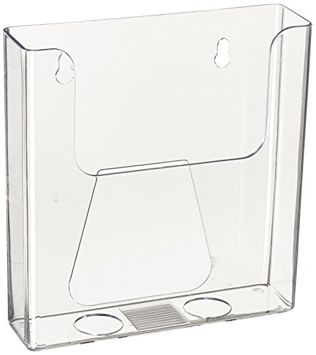 Source One 6 Inch BiFold Wall Mount Premium Booklet Clear Brochure Holder (6 Pack)