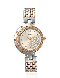 TimeSmith Limited Edition Off White Dial Multicolor Metal Watch for Women TSM-118