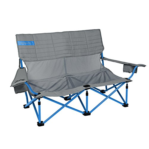 (Kelty Low-Love Mesh Camp Chair, Smoke/Paradise Blue)