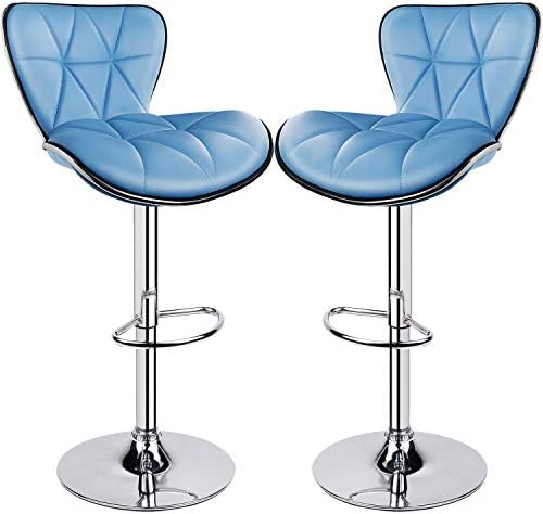 Leader Shell Back Bar Stools Set of 2
