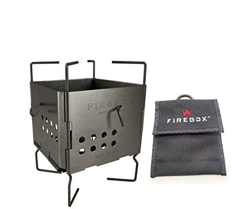 FIREBOX (파이어 박스) GEN2 【스토브 본체+순정 케이스】 나노 스토브 스테인레스 우드 스토브 3인치