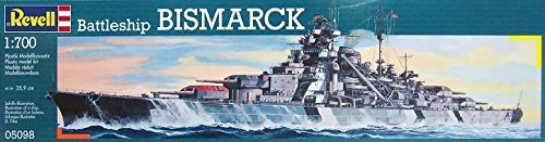 Germany Plastic Ship Model (Revell of Germany Battleship Bismarck Plastic Model Kit)