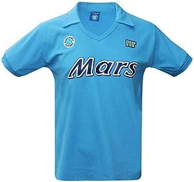 SSC NAPOLI Vintage 1988/89 MARS - Camisa retro (100% algodón, tallas S a 3XL): Amazon.es: Ropa y accesorios