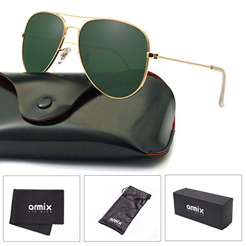 ANMIX Aviator Polarized Sunglasses for Men & Women with Eyeglasses Case - UV - Female Aviator
