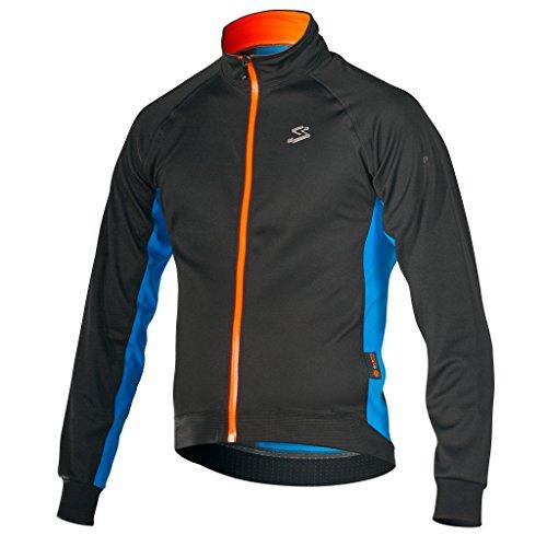 Spiuk–Elite Men Pro Jacket, colore: arancione, blu, nero, taglia S